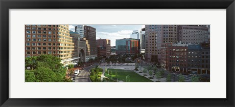 Framed Buildings in a city, Atlantic Avenue, Wharf District, Boston, Suffolk County, Massachusetts, USA Print
