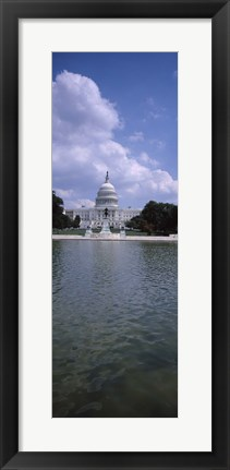 Framed Reflecting pool with a government building in the background, Capitol Building, Washington DC, USA Print