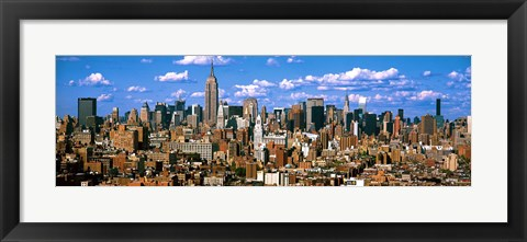 Framed Aerial view of a city, Midtown Manhattan, Manhattan, New York City Print