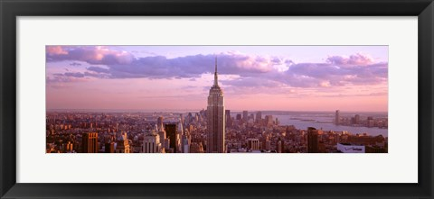 Framed Aerial view of Midtown Manhattan, New York City Print