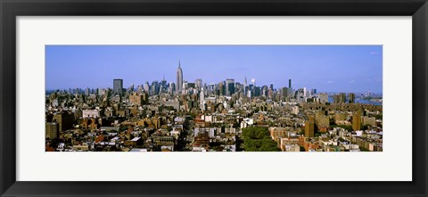Framed Aerial view of Manhattan and Empire State building, New York City, New York State, USA Print