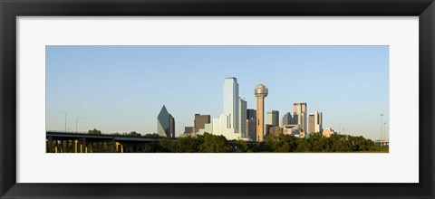 Framed Daytime View of the Dallas, Texas Skyline Print