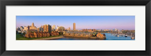 Framed High angle view of a city, Buffalo, New York State, USA Print
