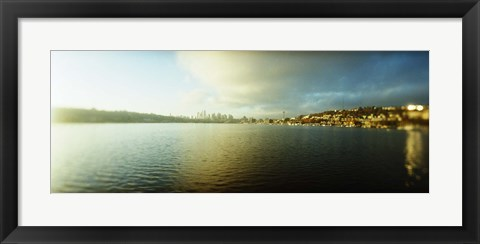 Framed City at the waterfront with Gasworks Park in the background, Seattle, King County, Washington State, USA Print