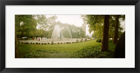 Framed Fountain in a park, Prospect Park, Brooklyn, New York City, New York State, USA Print
