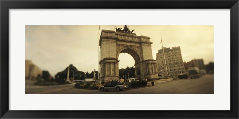Framed War memorial, Soldiers And Sailors Memorial Arch, Prospect Park, Grand Army Plaza, Brooklyn, New York City, New York State, USA Print