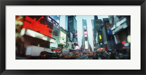 Framed Buildings lit up at dusk, Times Square, Manhattan, New York City, New York State, USA Print