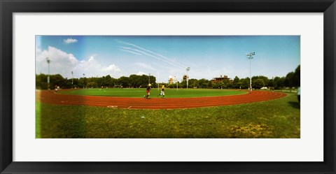 Framed People jogging in a public park, McCarren Park, Greenpoint, Brooklyn, New York City, New York State, USA Print