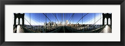 Framed Mirror View of the Brooklyn Bridge Print