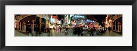 Framed 360 degree view of a city at dusk, Broadway, Manhattan, New York City, New York State, USA Print