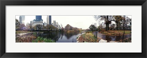 Framed Pond in a park, Central Park, Manhattan, New York City, New York State Print