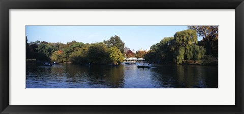 Framed Lake in a park, Central Park, Manhattan, New York City, New York State, USA Print