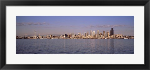 Framed Seattle, Washington from the Water Print