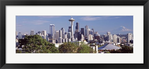 Framed City viewed from Queen Anne Hill, Space Needle, Seattle, King County, Washington State, USA 2010 Print