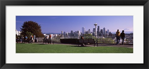 Framed View of Seattle from Queen Anne Hill, King County, Washington State, USA 2010 Print