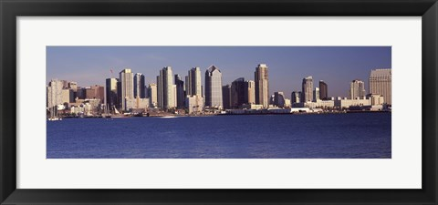 Framed San Diego skyline as Seen from the Water Print