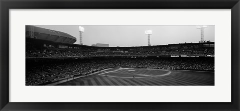 Framed Spectators in a baseball park, U.S. Cellular Field, Chicago, Cook County, Illinois, USA Print