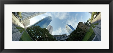 Framed Low angle view of skyscrapers, Houston, Harris county, Texas, USA Print