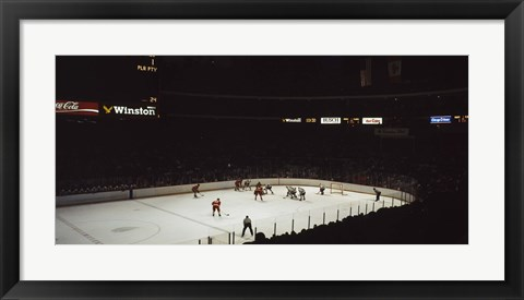 Framed Group of people playing ice hockey, Chicago, Illinois, USA Print