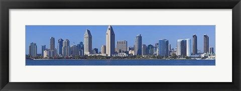 Framed City at the waterfront, San Diego, California, USA 2010 Print