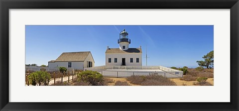 Framed Lighthouse, Old Point Loma Lighthouse, Point Loma, Cabrillo National Monument, San Diego, California, USA Print