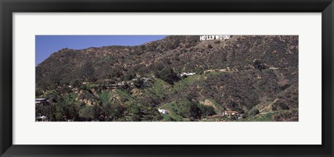 Framed Hollywood Hills, Hollywood, California Print
