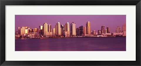 Framed Purple Sky in San Diego Print