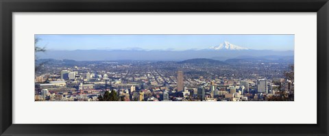 Framed Buildings in a city viewed from Pittock Mansion, Portland, Multnomah County, Oregon, USA 2010 Print