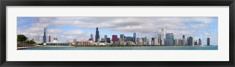 Framed City at the waterfront, Lake Michigan, Chicago, Cook County, Illinois, USA 2010 Print