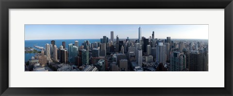 Framed Aerial View of Chicago Print