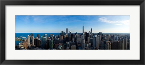 Framed Chicago Skyline, Illinois, 2010 Print