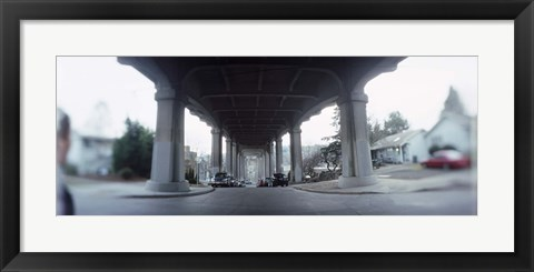Framed Low angle view of a bridge, Fremont Bridge, Fremont, Seattle, Washington State, USA Print
