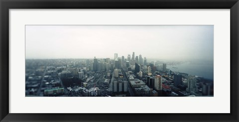 Framed City viewed from the Space Needle, Queen Anne Hill, Seattle, Washington State, USA 2010 Print