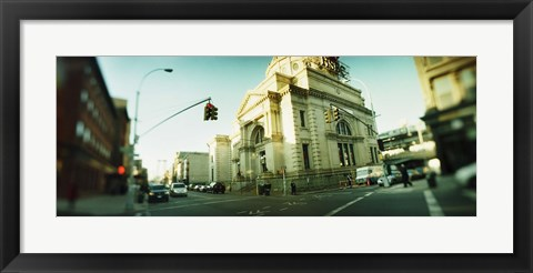 Framed Low Angle View in Williamsburg, Brooklyn, New York Print