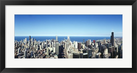 Framed Chicago skyline, Cook County, Illinois, USA 2010 Print