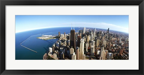 Framed Chicago skyscrapers, Cook County, Illinois, USA 2010 Print