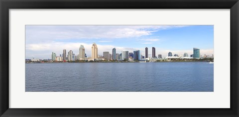 Framed Buildings at the waterfront, San Diego, San Diego County, California, USA 2010 Print