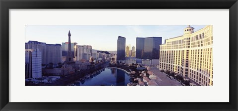 Framed Hotels in a city, The Strip, Las Vegas, Nevada, USA 2010 Print