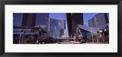Framed Skyscrapers in a city, Citycenter, The Strip, Las Vegas, Nevada, USA 2010 Print