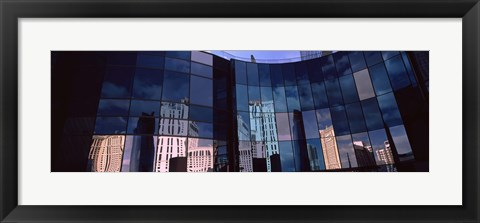 Framed Reflection of skyscrapers in the glasses of a building, Citycenter, The Strip, Las Vegas, Nevada, USA Print