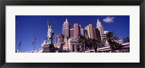 Framed Low angle view of a hotel, New York New York Hotel, Las Vegas, Nevada Print