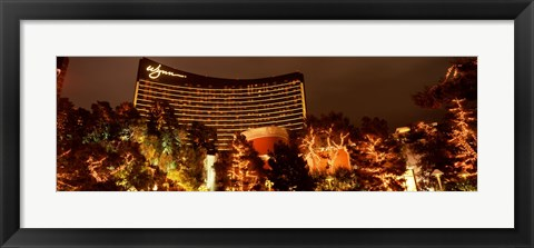 Framed Hotel lit up at night, Wynn Las Vegas, The Strip, Las Vegas, Nevada, USA Print