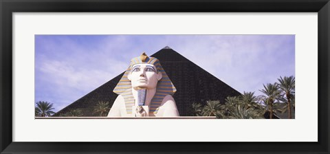 Framed Statue in front of a hotel, Luxor Las Vegas, The Strip, Las Vegas, Nevada, USA Print