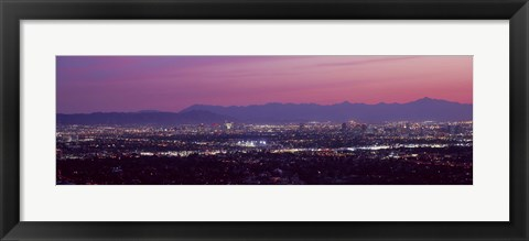 Framed Cityscape at sunset, Phoenix, Maricopa County, Arizona, USA 2010 Print
