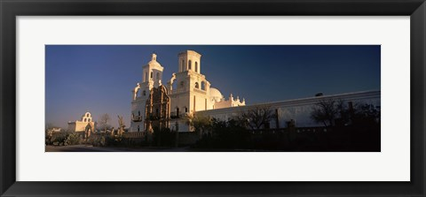 Framed Mission San Xavier Del Bac, Tucson, Arizona Print