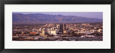 Framed Aerial View of Tucson, Arizona, USA 2010 Print