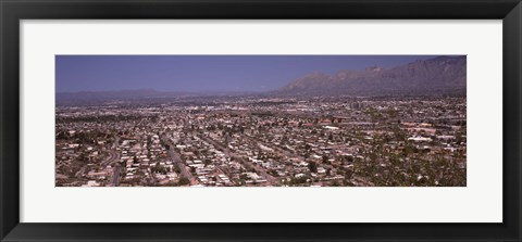 Framed Tucson, Arizona (aerial view) Print