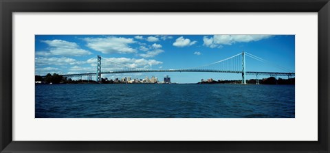 Framed Ambassador Bridge, Detroit Print