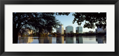 Framed Lake Eola, Orlando, Florida Print