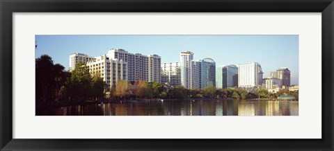Framed Lake Eola Skyline, Orlando, Florida Print